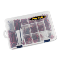 Pro-Bolt 200PC Red Aluminum Metric Hardware Assortment