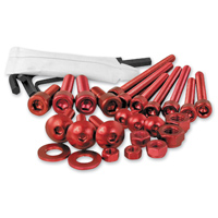 Pro-Bolt 25PC Red Aluminum Metric Hardware Assortment