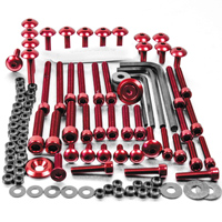 Pro-Bolt 50PC Red Aluminum Metric Hardware Assortment