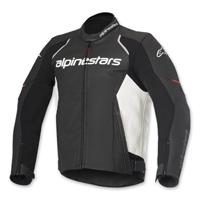 Alpinestars Men's Devon Airflow Black/White Leather Jacket