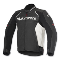 Alpinestars Men's Devon Airflow Black/White Leather Jacket