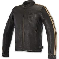 Alpinestars Oscar Men's Charlie Vintage Brown Sand Leather Jacket