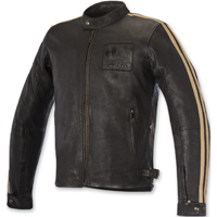 Alpinestars Oscar Men's Charlie Vintage Brown Sand Leather Jacket