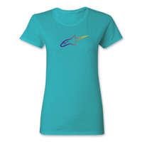 Alpinestars Women's Ageless Gradient Tahiti Blue T-Shirt