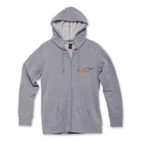 Alpinestars Women's Ageless Gradient Gray Full Zip Hoodie
