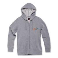 Alpinestars Women's Ageless Gradient Gray Full Zip Hoodie