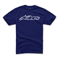 Alpinestars Men's Blaze Navy/White T-Shirt