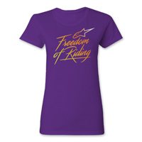 Alpinestars Women's Free Purple T-Shirt