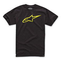 Alpinestars Men's Ageless Black/Yellow T-Shirt