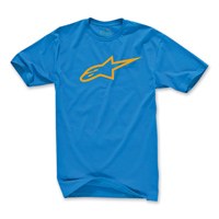 Alpinestars Men's Ageless Turquoise/Orange T-Shirt