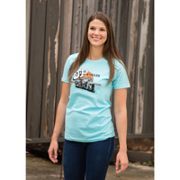 J&P Cycles Women's Vintage Logo Blue T-Shirt