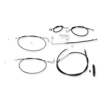 LA Choppers Stainless Steel/Vinyl Cable/Brake Line Kit for 12″-14″ Ape Hangers