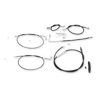 LA Choppers Stainless Steel/Vinyl Cable/Brake Line Kit for 12″-14″ Ape Hangers