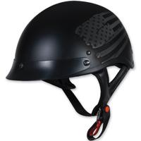 Torc T53 Flag Black Half Helmet