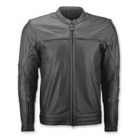 Highway 21 Men's Primer Black Leather Jacket