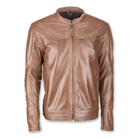 Highway 21 Men's Primer Brown Leather Jacket