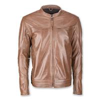 Highway 21 Men's Primer Brown Leather Jacket
