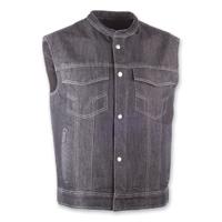 Highway 21 Iron Sights Club Collar Black Denim Vest