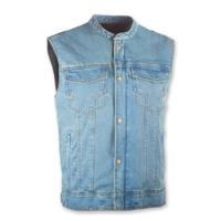 Highway 21 Iron Sights Club Collar Blue Denim Vest