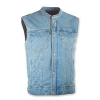 Highway 21 Iron Sights Club Collar Blue Denim Vest