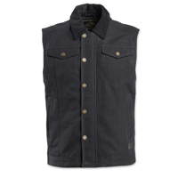 Roland Sands Design Men's Ramone Black Textile Vest
