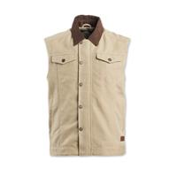 Roland Sands Design Men's Ramone Khaki Textile Vest