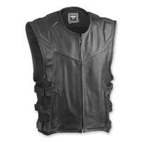 Highway 21 Men's Blockade Black Leather Vest
