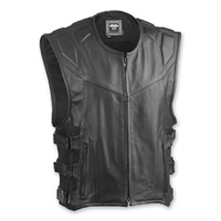 Highway 21 Men's Blockade Black Leather Vest