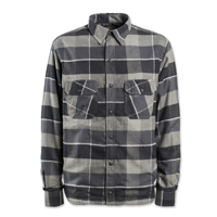Roland Sands Design Men's Gorman Black/Charcoal Button Down Shirt