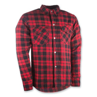 Highway 21 Men's Marksmen Red/Black Button-Down Jacket