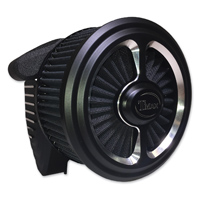 ThunderMax Accent Matte Black 2 Spoke Contour Cut Air Cleaner with Throttle Body Cover
