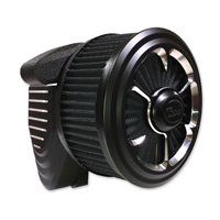 ThunderMax Accent Matte Black 3 Spoke Contour Cut Air Cleaner with Throttle Body Cover
