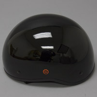 Zox Nano Old School Gloss Black Half Helmet