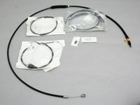 LA Choppers Black Cable / Brake Line Kit for Mini Ape Hangers FLHR Models
