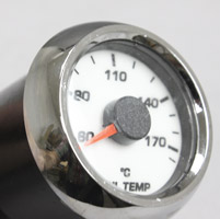 Medallion Instrumentation Systems Premium Bagger KPH Gauges, Racing White