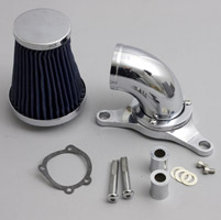Wimmer Custom Cycle Super Intake with Blue Filter and Built in Breathers