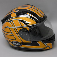 Bell Vortex Damage Orange Flake Full Face Helmet