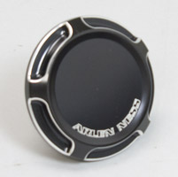Arlen Ness Black Beveled Vented Gas Caps