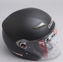 LS2 OF569 Matte Black Open Face Helmet