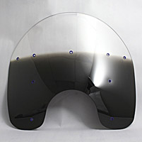 Memphis Shades 15″ Tall Gradient Black Replacement Plastic for OEM Windshield
