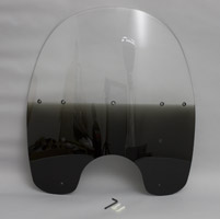 Memphis Shades 19″ Tall Gradient Black Replacement Plastic for OEM Windshield