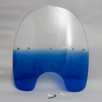 Memphis Shades 19″ Tall Gradient Blue Replacement Plastic for OEM Windshield