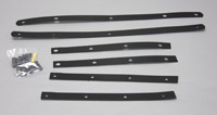 Memphis Shades Fats Black Windshield Straps