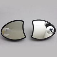 J&P Cycles® Black Dresser Fairing Mirror Set
