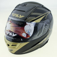FLY Paradigm Classic Black and Gold Full Face Helmet