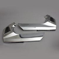 Show Chrome Accessories Frame Covers with Rubber Insert for GL1800 Gold Wing