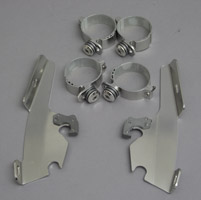 Memphis Shades Fats/Slims Polished Trigger-Lock Mount Kit - Covered Forks