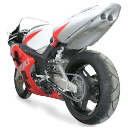 Hot Bodies Racing SBK Silver Undertail With LED lights