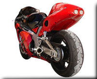 Hot Bodies Racing SBK Red Undertail With LED lights