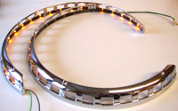 Add On LED Lighted Chrome Rotor Cover Rings